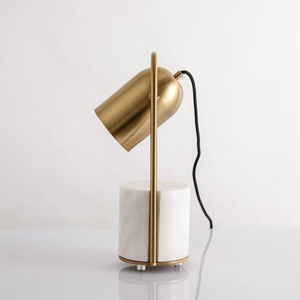 Bowery | Modern Table Lamp with Marble Base