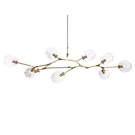 Vanja 9 | Gold w/ Clear Glass Luxe Chandelier - Home Cartel ®