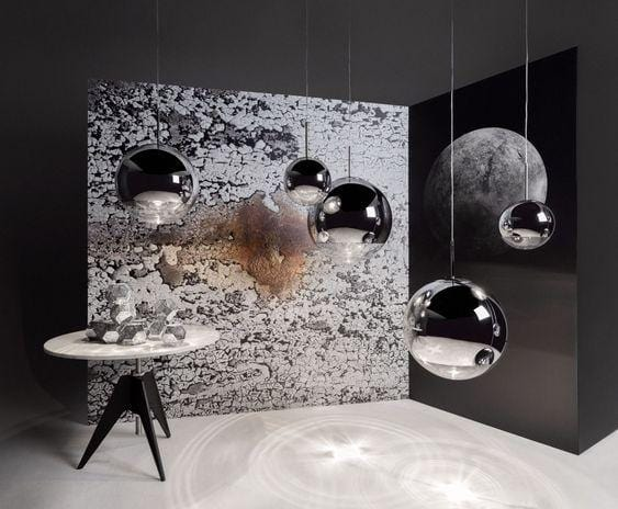 Lune Silver (S) 25cm | Mirror Pendant Light - Home Cartel ®