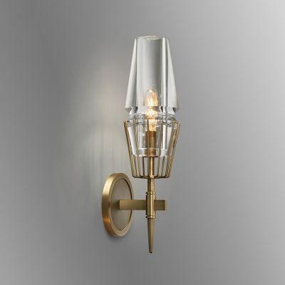 Lyon 1 |  Luxxe Glass Wall Sconce - Home Cartel ®
