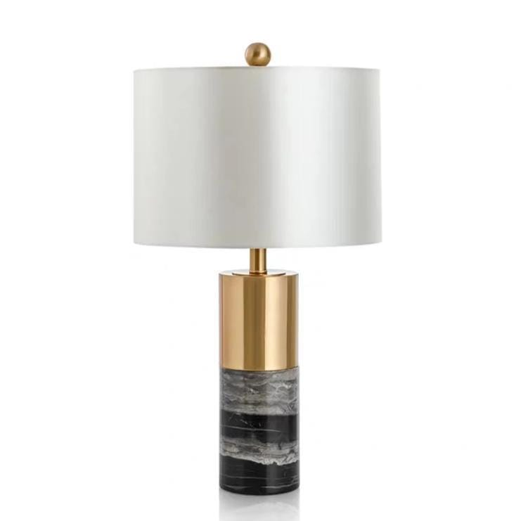 Aaren | Gold x Marble Base Table Lamp - Home Cartel ®