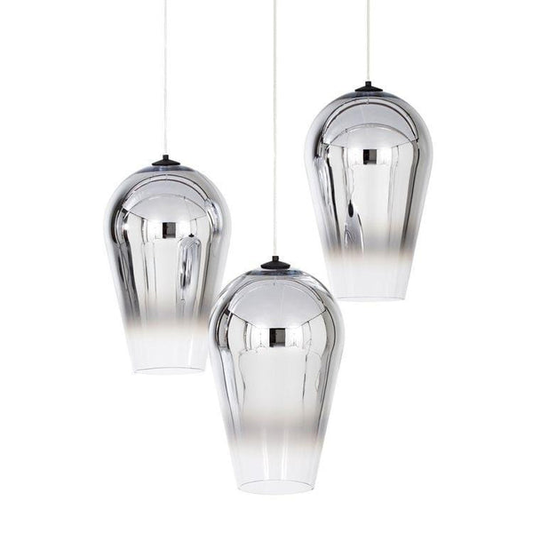 Adra Silver | Faded Glass Pendant Light - Home Cartel ®