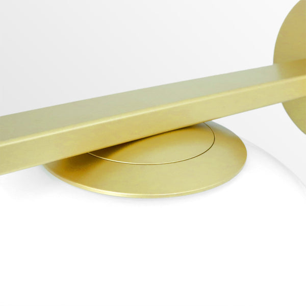 Arendal | Matte Gold x Frosted Glass Wall Sconce - Home Cartel ®