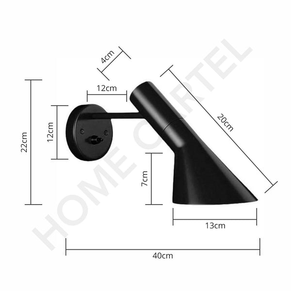 Avila Black | Wall Sconce - Home Cartel ®