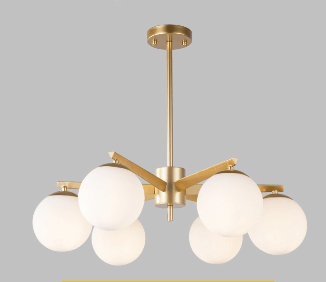 Neptune 6 | Frosted Ball Chandelier - Home Cartel ®