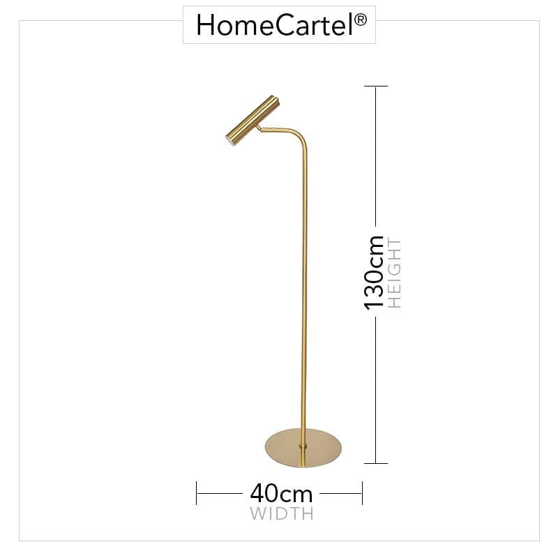 Cygnus | Brass Modern Floor Lamp - Home Cartel ®
