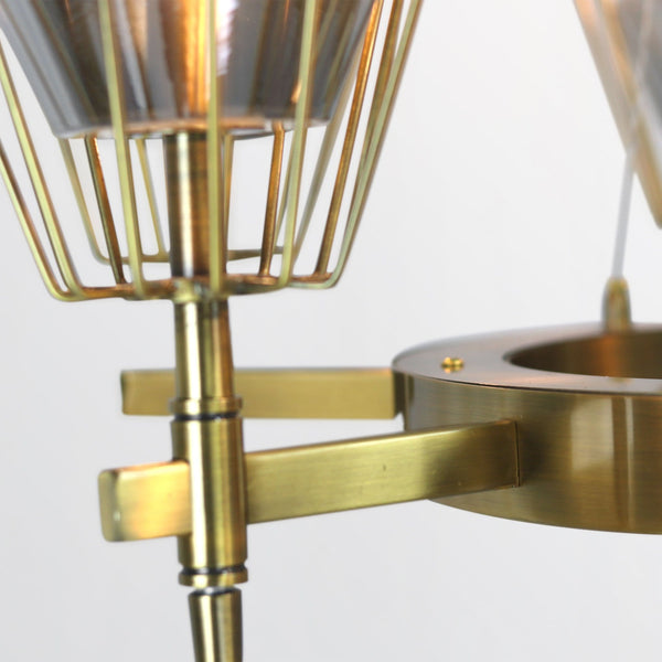 Lyon | Brass Luxxe Glass Chandelier (smoked glass) - Home Cartel ®