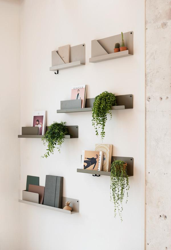 Bo 63cm | Scandinavian Folded Metal Shelf