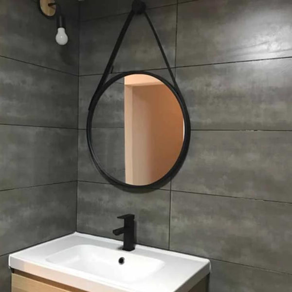 Grimstad Metal Strap Mirror 60cm | Black - Home Cartel ®