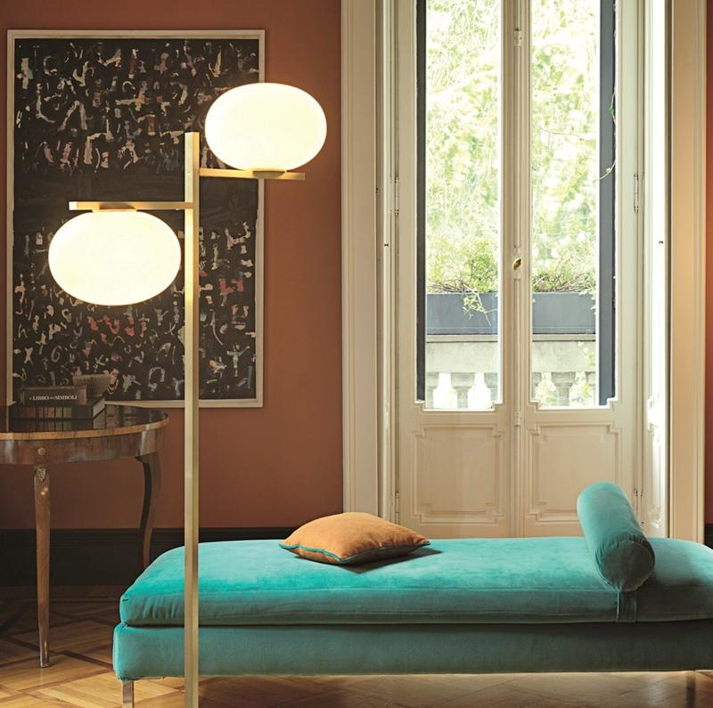 Arendal | Matte Gold x Frosted Glass Floor Lamp - Home Cartel ®
