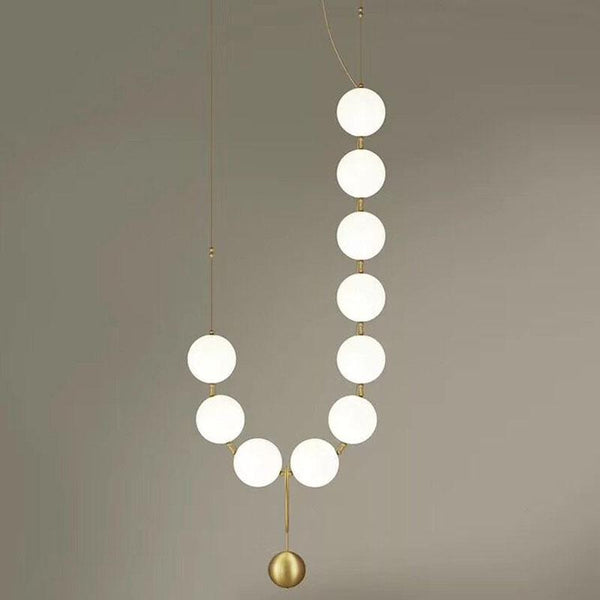 Iris | Frosted Ball Chandelier - Home Cartel