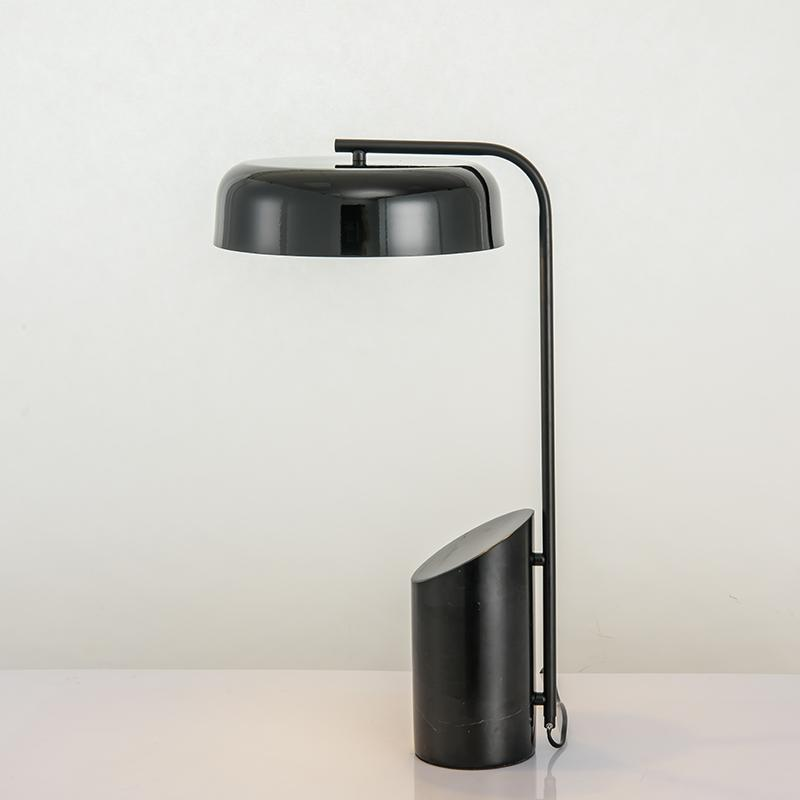 Jokull | Marble Base with Metal Shade Table Lamp