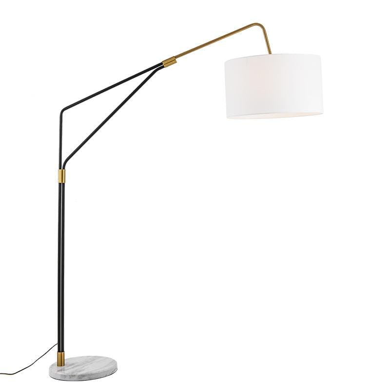 Signy | Modern Shade with Marble Base Floor Lamp