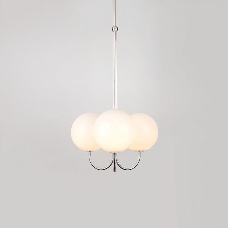 Auriel | Frosted Sphere Classic Chandelier