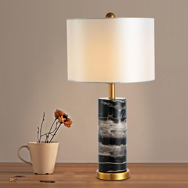 Aaren Deux | Marble Base Shade Table Lamp