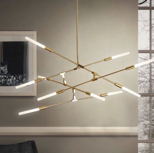 Arinbjorn 10 | Gold w/ Frosted Glass Chandelier - Home Cartel ®
