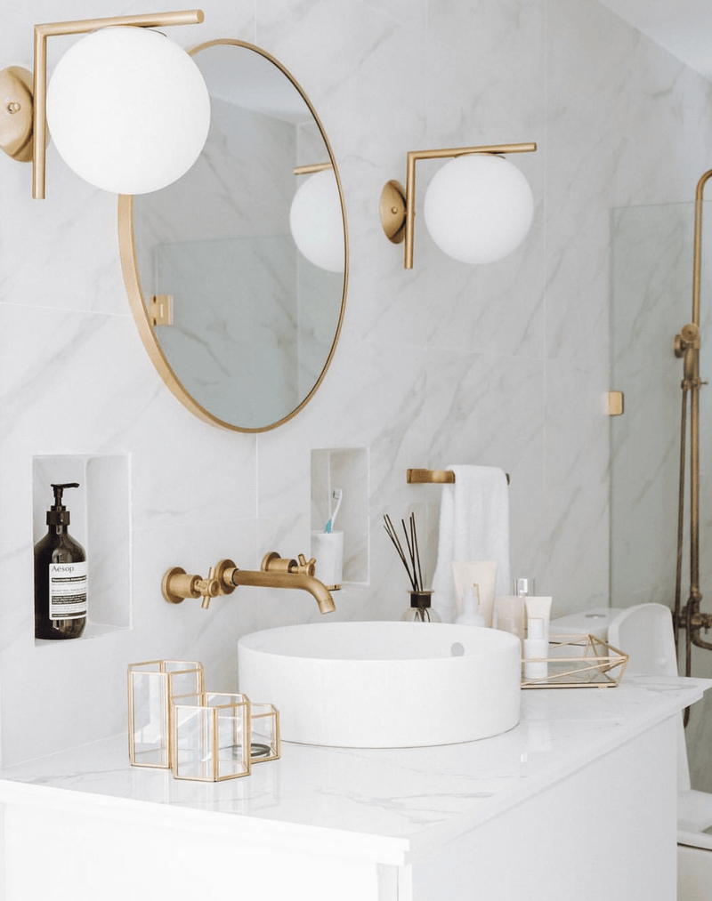 Salvi Gold Frost | Wall Sconce - Home Cartel ®