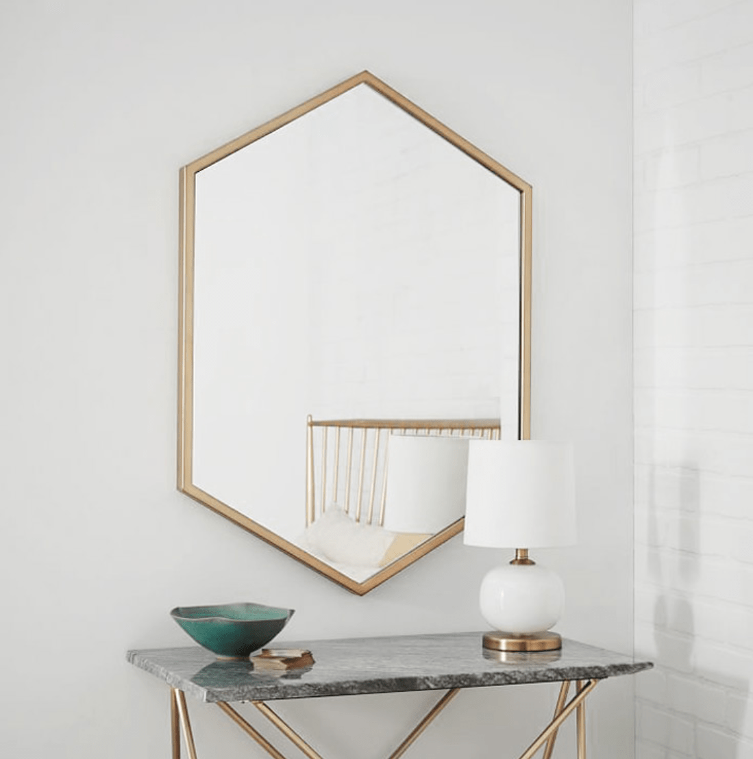 Malmo Mirror Brass | 50cm x 75cm - Home Cartel ®