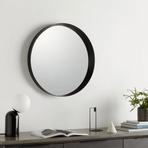 Alana Recessed Mirror Black | 60cm - Home Cartel ®