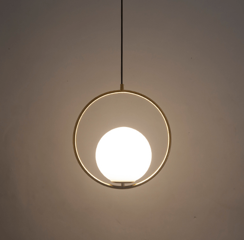 Tia | Brass and Frosted Glass Pendant Light - Home Cartel ®