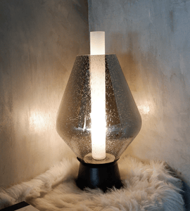 Bonnie Metallic Gray | Glass Table Lamp - Home Cartel ®