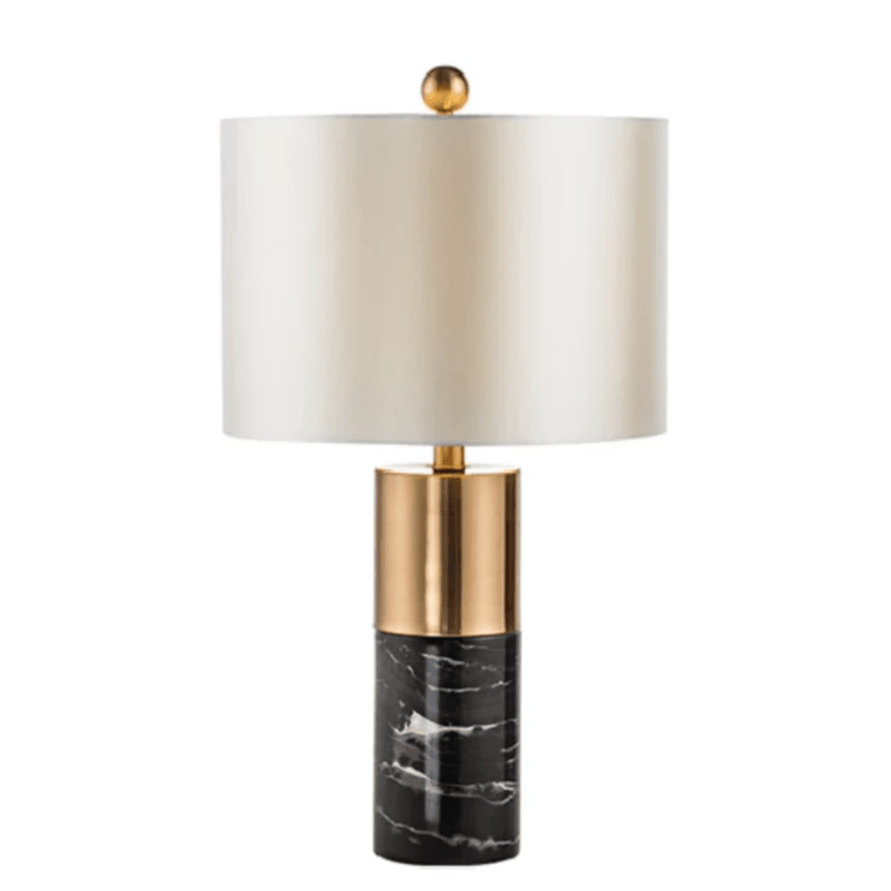 Aaren | Gold x Marble Base Table Lamp