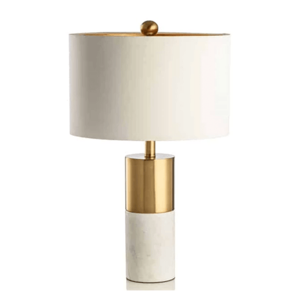 Aaren White | Gold x Marble Table Lamp - Home Cartel ®