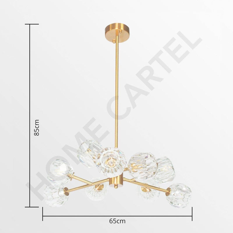 Siv 9 | Brass Luxe Crystal Chandelier* - Home Cartel ®