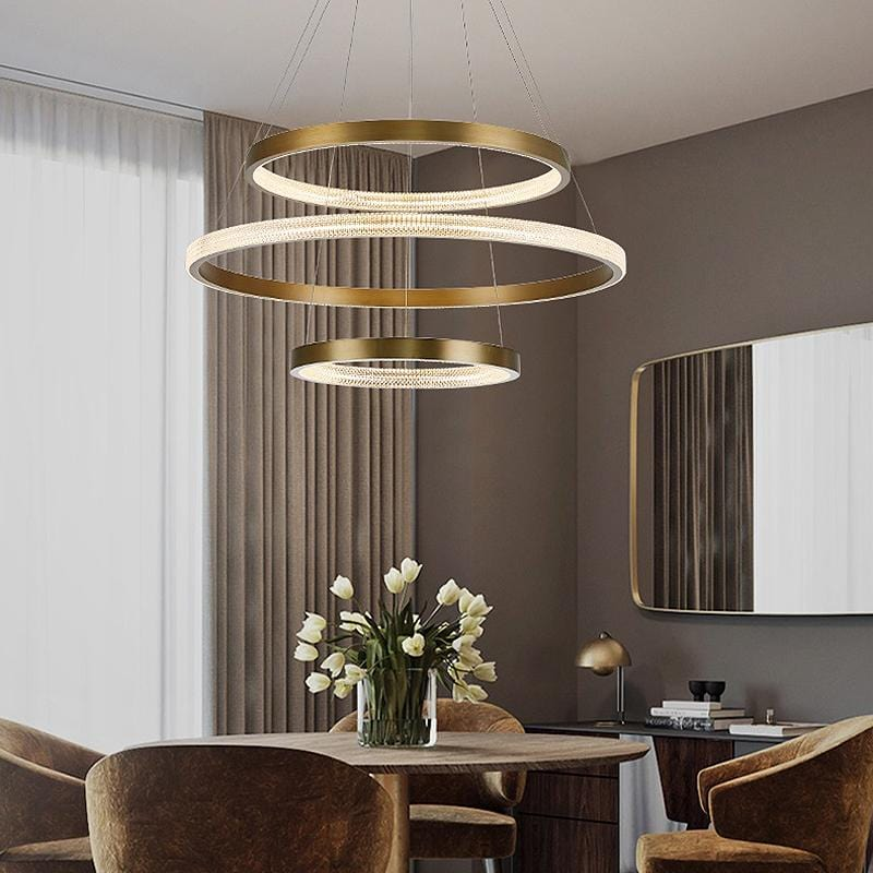 Hera Trio | Modern LED Chandelier with Crystal Details