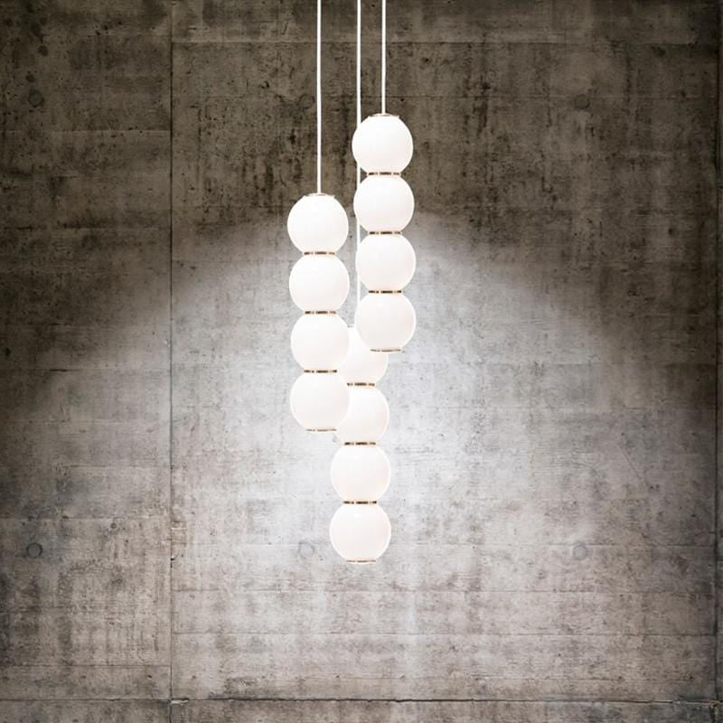 Iris Trois B | Glass Sphere with Gold Details Clustered Pendant Light