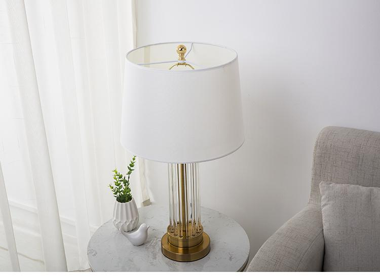 Tiril | Fluted Glass Base Table Lamp