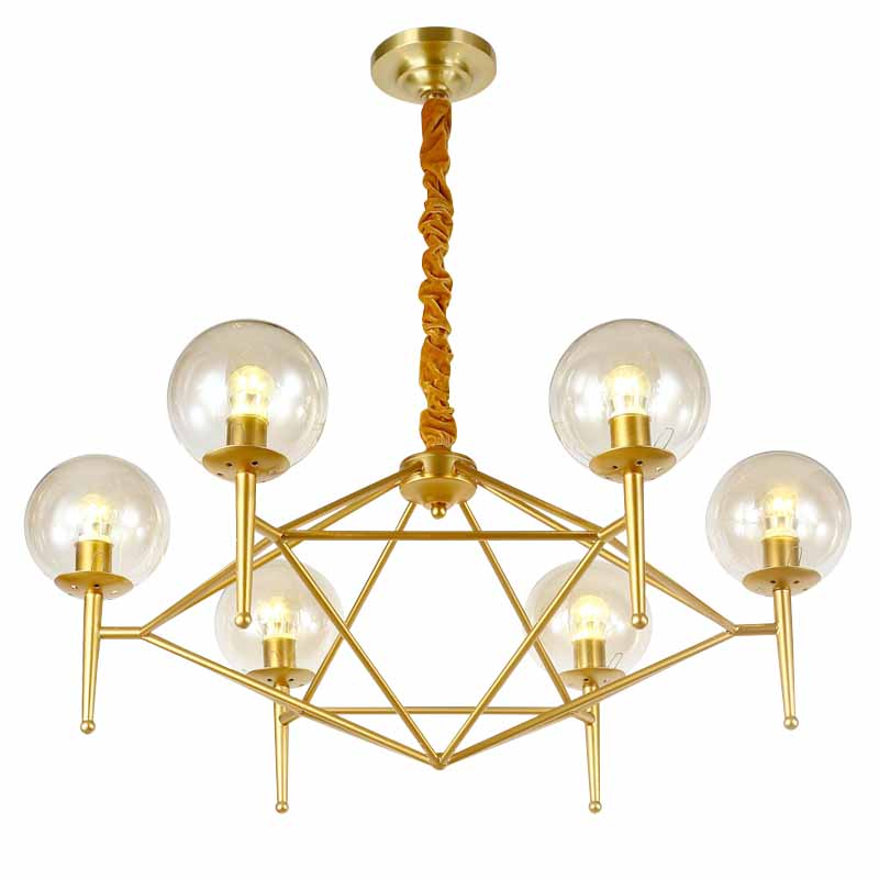 Bordeaux | Gold Luxxe Glass Chandelier