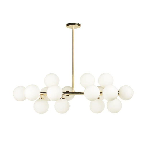 Thilly | Gold with Frosted Glass Chandelier - Home Cartel ®