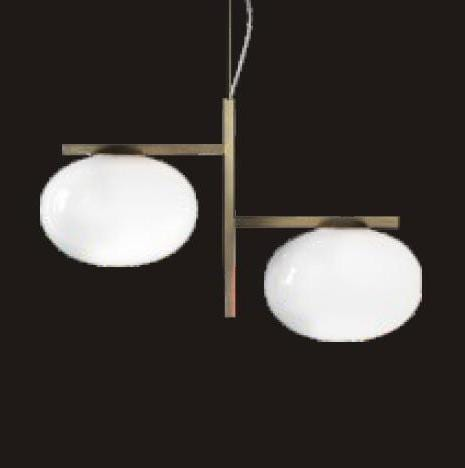 Arendal | Matte Gold x Frosted Glass Pendant Light - Home Cartel ®