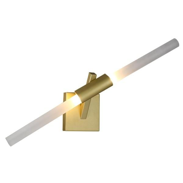 Vita Une | Gold w/ Frosted Glass Wall Sconce - Home Cartel ®