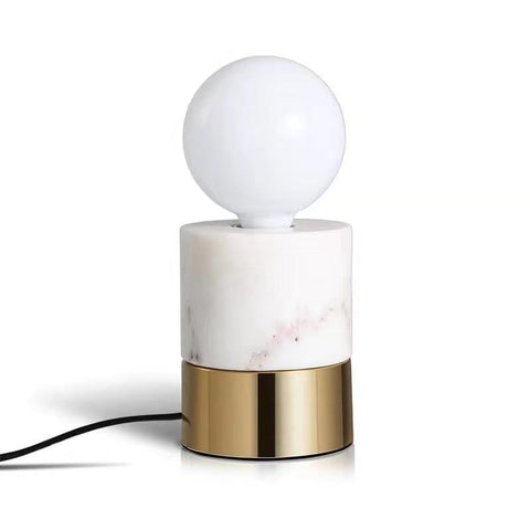 Dorve | Marble x Brass Table Lamp - Home Cartel