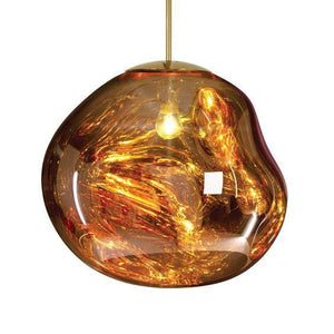 Evra Gold (S) | Metallic Glass Pendant Lights - Home Cartel ®
