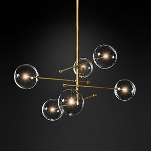 Dana 6 | Brass Modern Chandelier - Home Cartel ®
