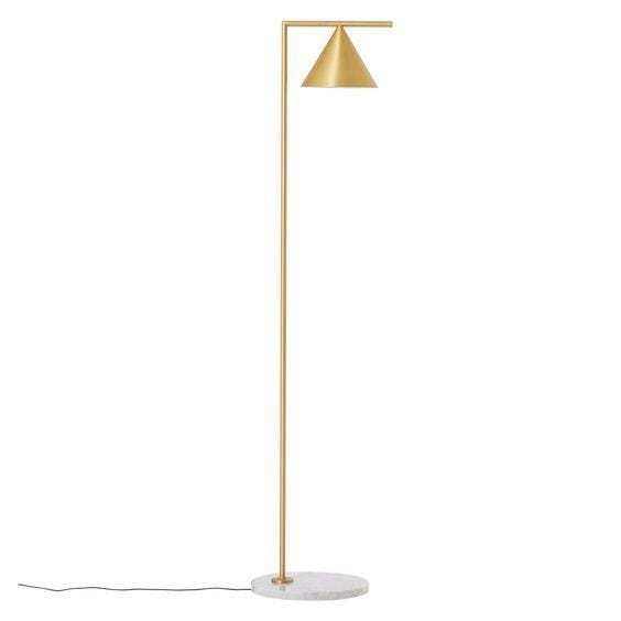 Clarice | Gold x Marble Floor Lamp - Home Cartel ®