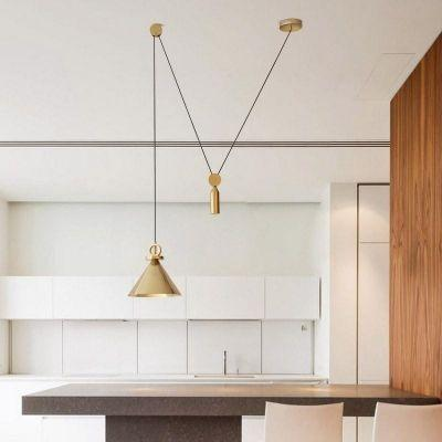 Elsa | Adjustable Brass Pendant Light - Home Cartel ®