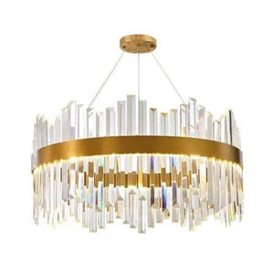 Clementine 2 | Brass Luxe Crystal Chandelier - Home Cartel