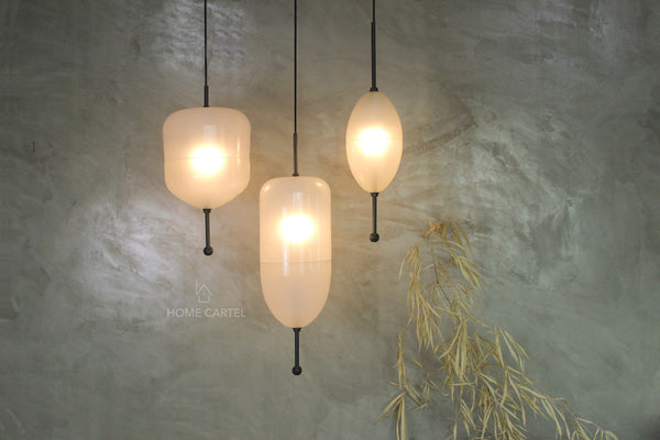 Carmel 1 White | Glass Pendant Light - Home Cartel ®