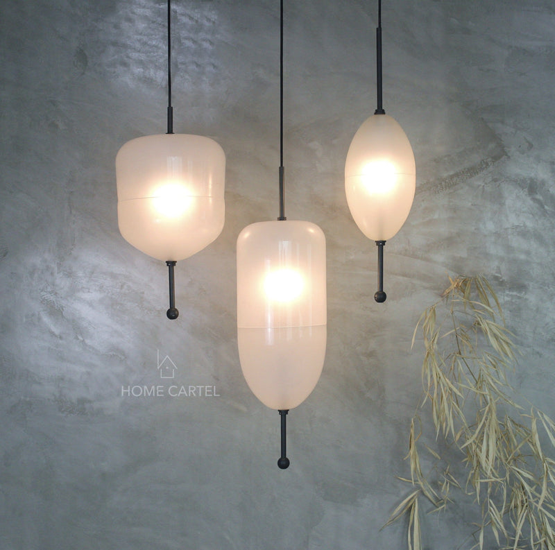 Carmel 2 White | Glass Pendant Light - Home Cartel ®