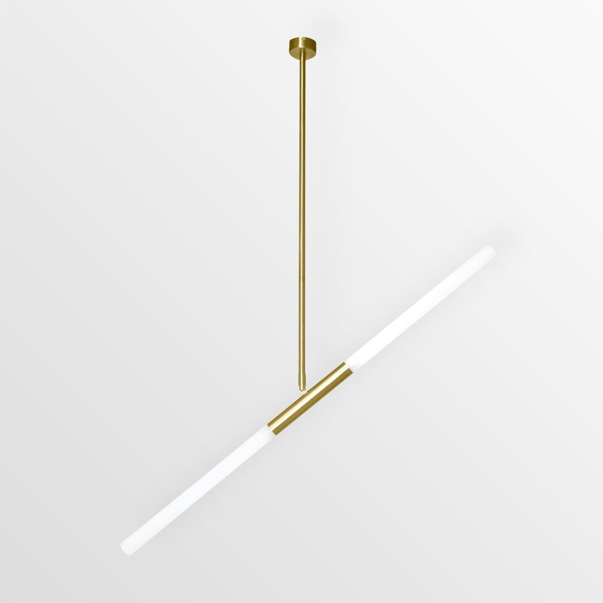 Vera 2 | Brass w/ Frosted Glass Chandelier - Home Cartel ®