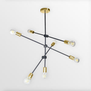 Helga 7 | Black & Copper Modern Mobile Chandelier - Home Cartel ®