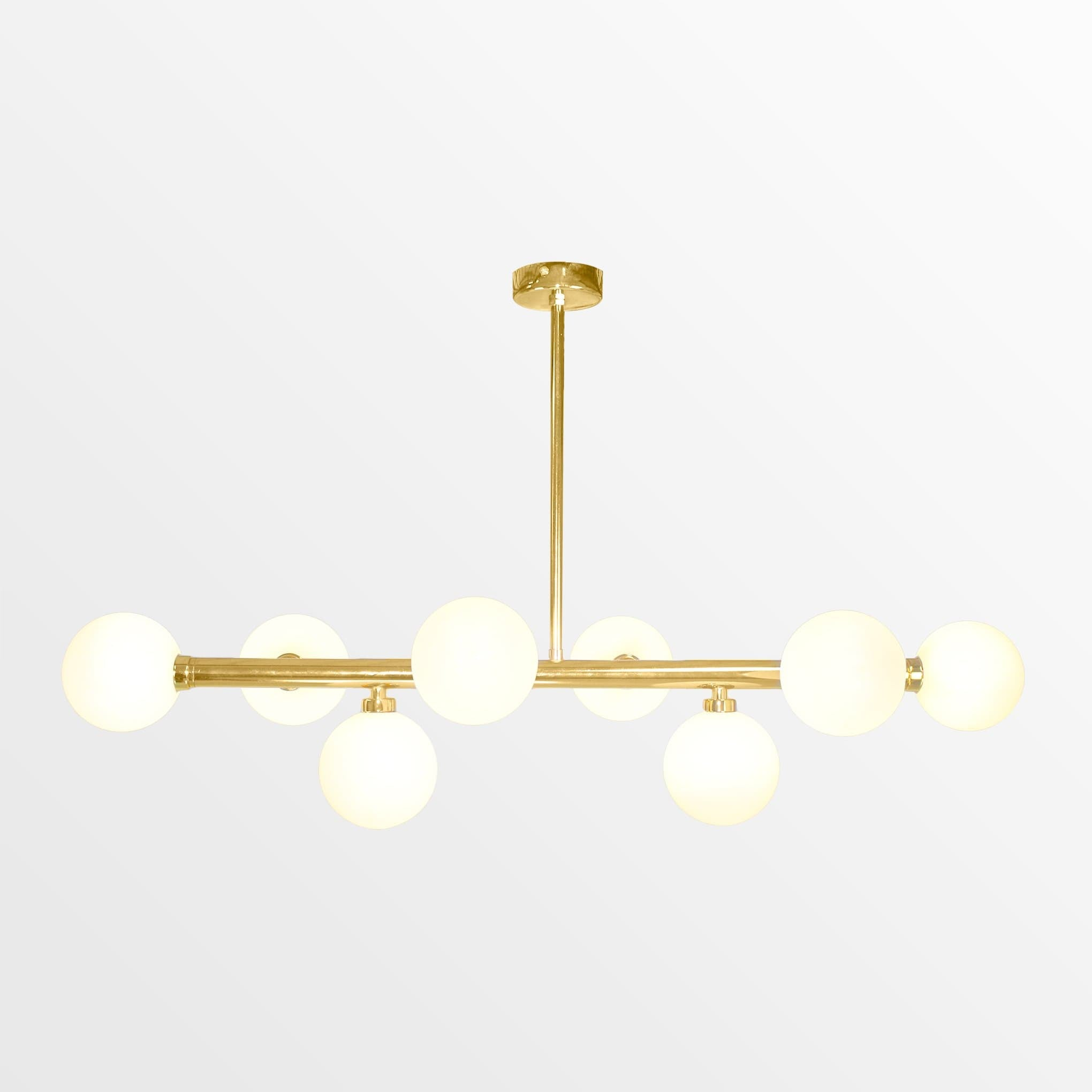 Astra | Gold with Frosted Glass Chandelier - Home Cartel ®
