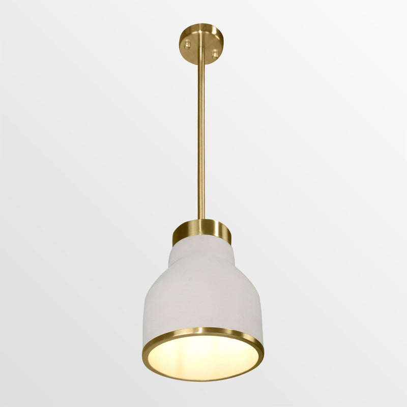 Elara 2 |  Concrete w/ Brass Pendant Light - Home Cartel ®