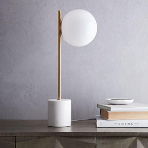 Fornhala | Marble x Brass Table Lamp - Home Cartel