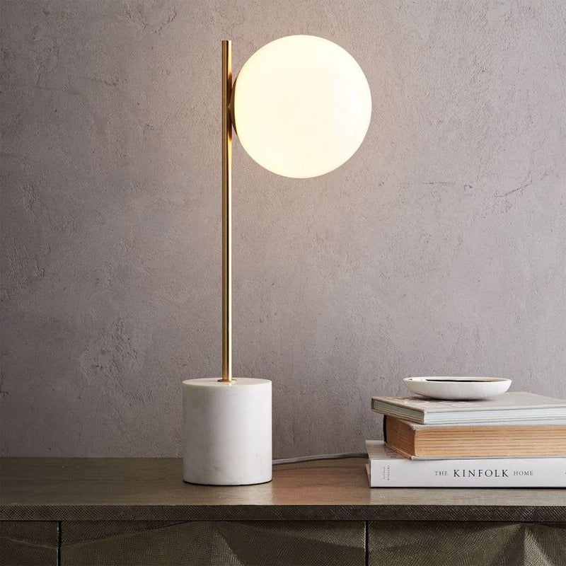 Fornhala | Marble Base Table Lamp - Home Cartel ®