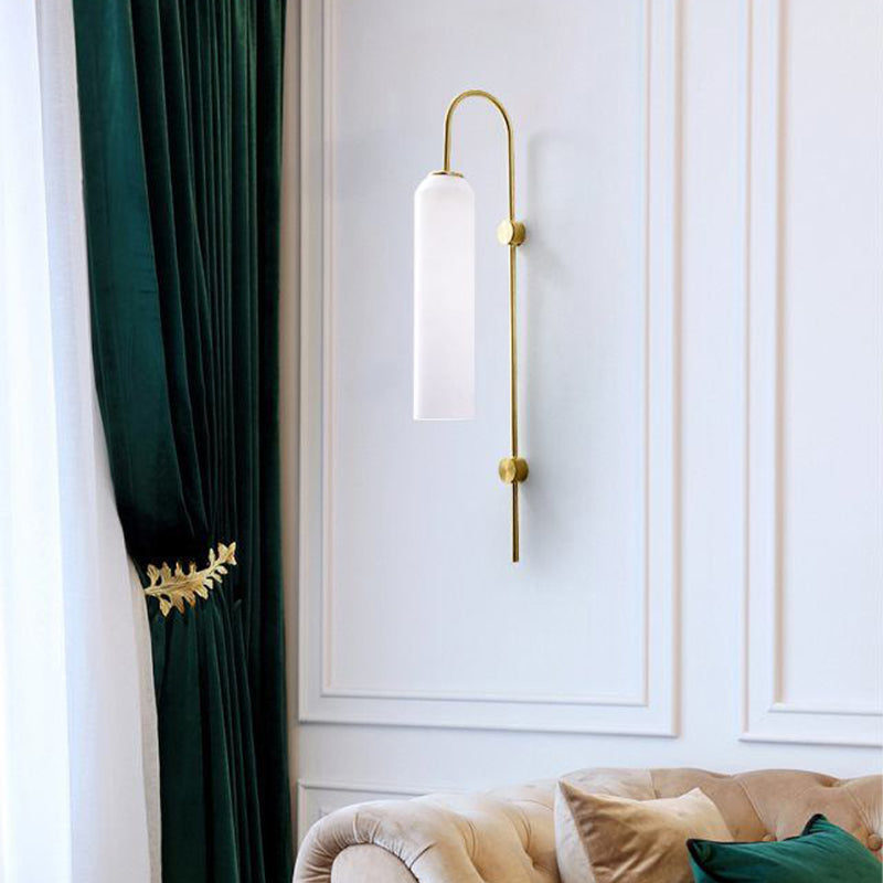Agneta | Glass Modern Wall Sconce
